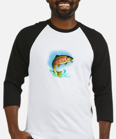 Jumping rainbow trout Baseball Jersey