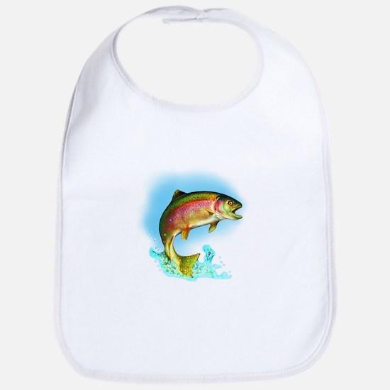 Jumping rainbow trout Bib