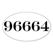 96664 Oval Decal