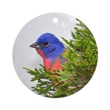 Painted Bunting Ornament (Round)