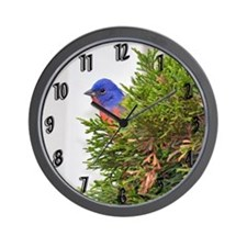 Painted Bunting Wall Clock