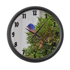 Painted Bunting Large Wall Clock
