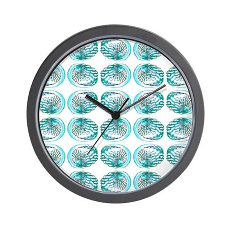Seashell pattern wall clock by metarla4 for Seashell clock