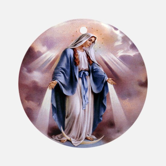 Our Lady Ornament (Round)