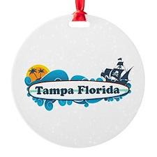 Tampa Florida - Surf Design. Ornament