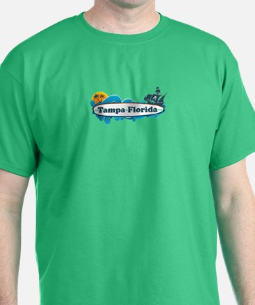 Tampa Florida - Surf Design. T-Shirt