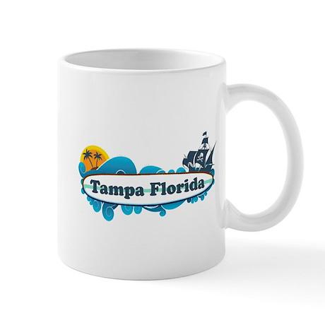 Tampa Florida - Surf Design. Mug