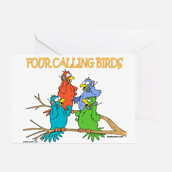 Four Calling Birds Greeting Cards (Pk of 10)