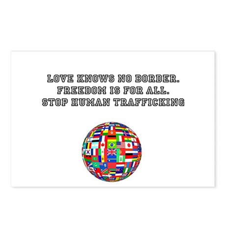 stop human trafficking Postcards (Package of 8)
