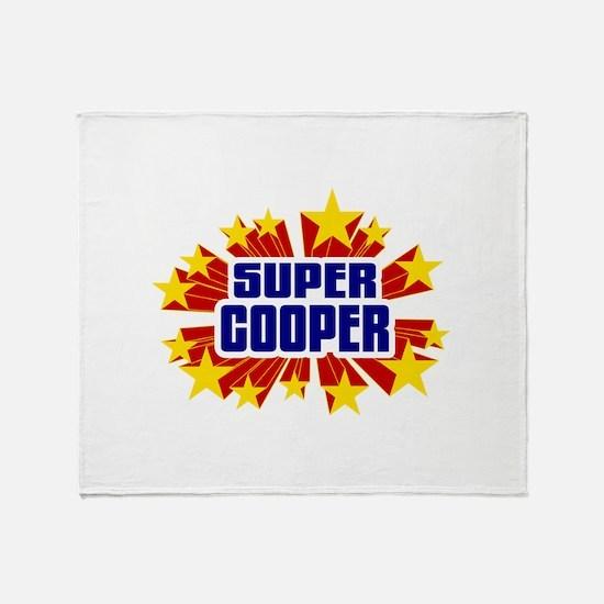 Cooper the Super Hero Throw Blanket