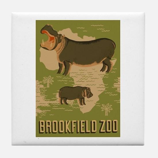 Hippo Zoo Tile Coaster