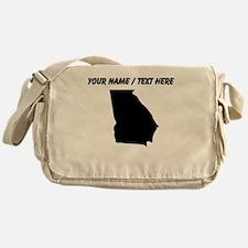Custom Georgia Silhouette Messenger Bag