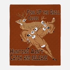 Fire Up the Grill Throw Blanket
