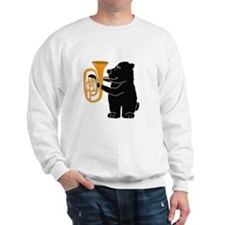 Black Bear Playing Tuba Sweater
