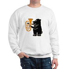 Black Bear Playing Tuba Sweatshirt