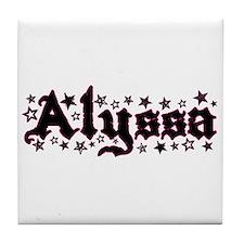 """""""Alyssa Stars"""" Tile Coaster"""