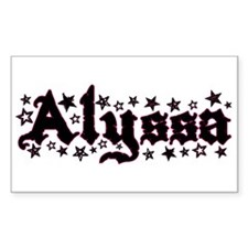 """Alyssa Stars"" Rectangle Decal"