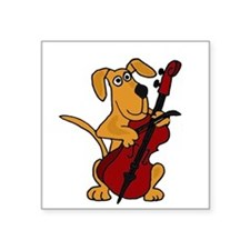Dog Playing Cello Sticker