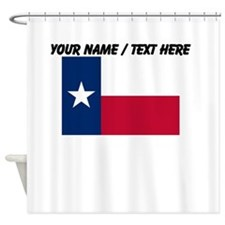 Custom Texas State Flag Shower Curtain