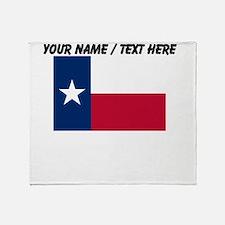Custom Texas State Flag Throw Blanket