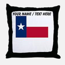 Custom Texas State Flag Throw Pillow