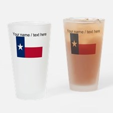 Custom Texas State Flag Drinking Glass