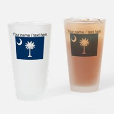 Custom South Carolina State Flag Drinking Glass