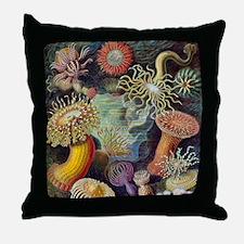 sea anemones-sq Throw Pillow