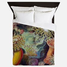 sea anemones-sq Queen Duvet