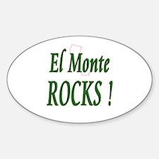 El Monte Rocks ! Oval Decal