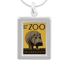 Hippo Zoo Silver Portrait Necklace