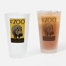 Hippo Zoo Drinking Glass