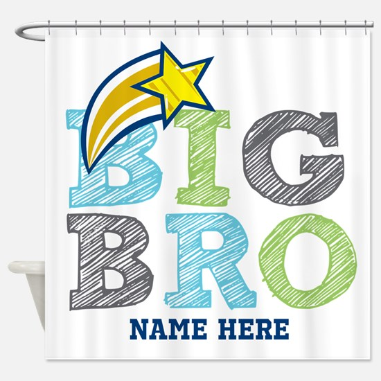 Star Big Bro Shower Curtain