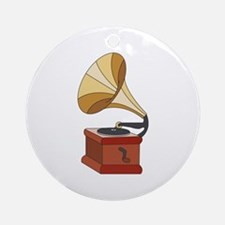 Vintage Phonograph Ornament (Round)
