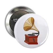 "Vintage Phonograph 2.25"" Button (10 pack)"