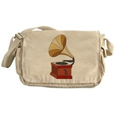 Vintage Phonograph Messenger Bag