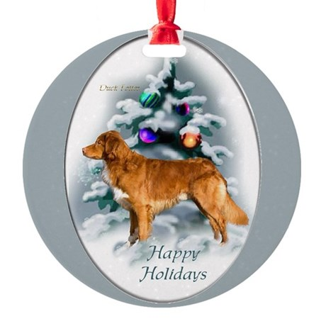 Nova Scotia Duck Toller Round Ornament