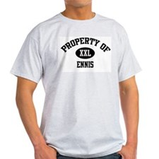 Property of Ennis Ash Grey T-Shirt