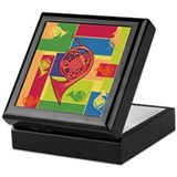 French horn Square Keepsake Boxes