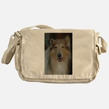 """Who Is Lassie? Do I Look Like Her""? Messenger Bag"