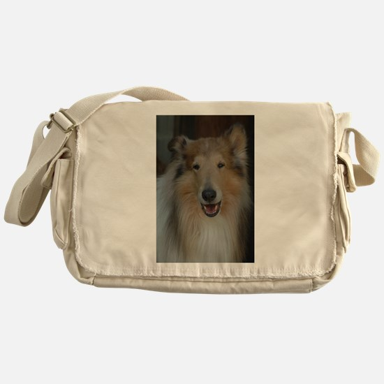 """""""Who Is Lassie? Do I Look Like Her""""? Messenger Bag"""