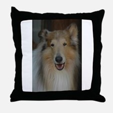 """Who Is Lassie? Do I Look Like Her""? Throw Pillow"