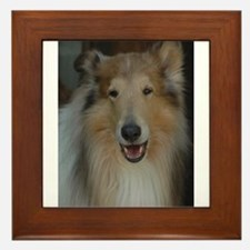 """Who Is Lassie? Do I Look Like Her""? Framed Tile"