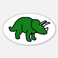 Triceratops Oval Decal