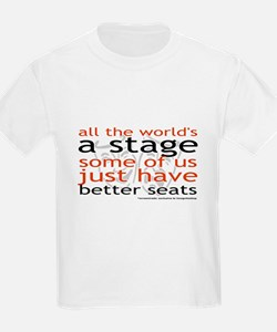 All the world's a stage Kids T-Shirt