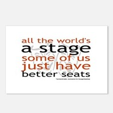 All the world's a stage Postcards (Package of 8)