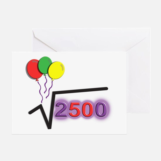 Funny Square Root 50th Birthday © Greeting Card