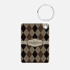 Cute Argyle Keychains