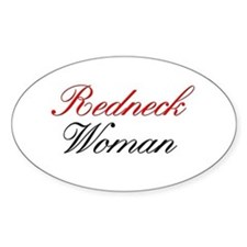 Redneck Woman Oval Decal