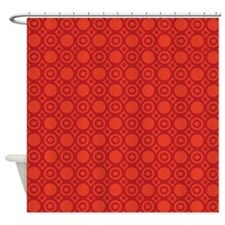 Mod Red Circles D1 Shower Curtain